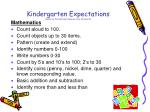 kindergarten expectations based on the national common core standards1