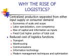why the rise of logistics