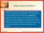 empowerment and policies