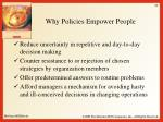 why policies empower people1