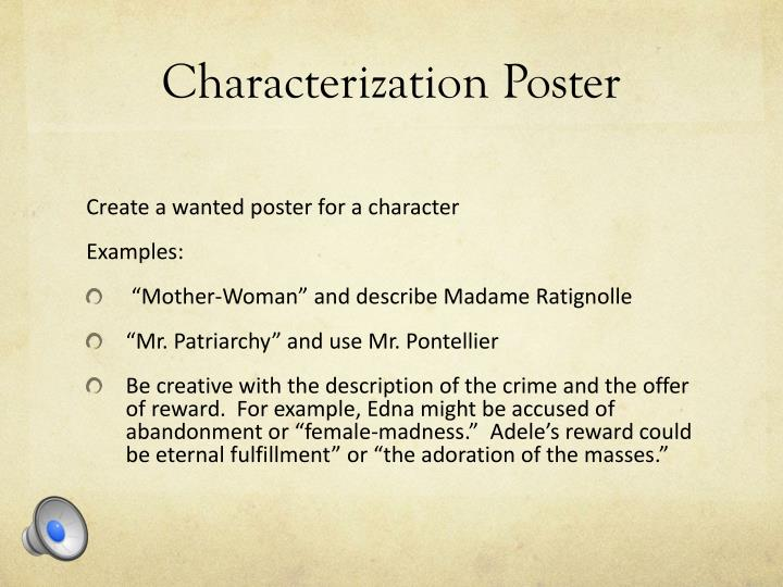 characterization poster n.
