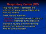 respiratory center rc