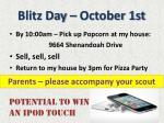 blitz day october 1st