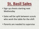 st basil sales
