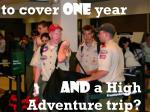 to cover one year