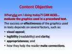 content objective2