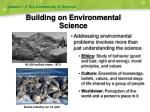 building on environmental science