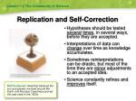 replication and self correction
