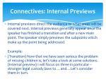 connectives internal previews
