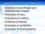 suggestions for essay preparation