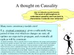 a thought on causality
