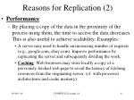 reasons for replication 2