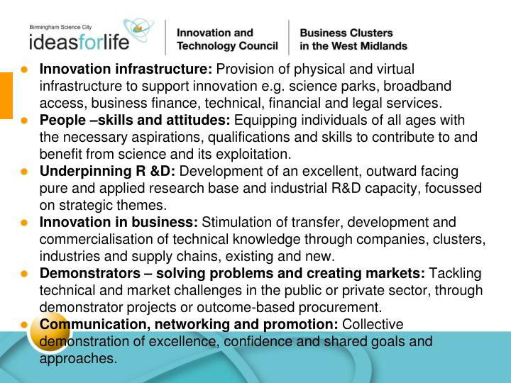 Innovation infrastructure: