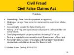 civil fraud civil false claims act