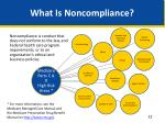 what is noncompliance