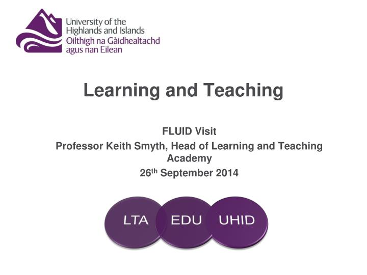 learning and teaching n.