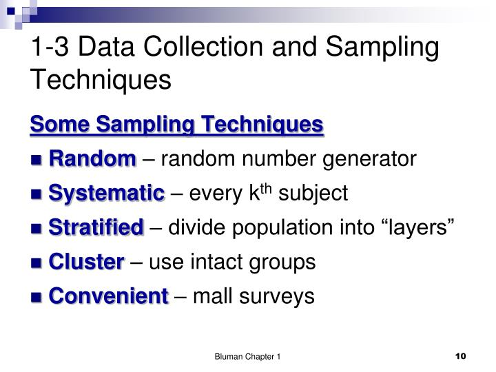 1-3 Data Collection and Sampling Techniques