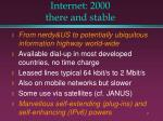 internet 2000 there and stable