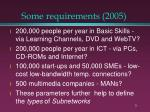 some requirements 2005