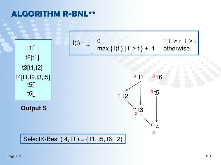 ALGORITHM R-BNL**