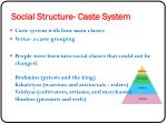 social structure caste system
