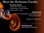 meet the orchestra faculty