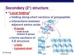 secondary 2 structure