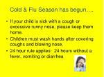 cold flu season has begun
