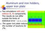 aluminum and iron holders upper iron plate