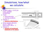 simulations how what we calculate