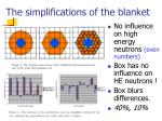 the simplifications of the blanket