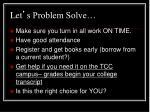 let s problem solve