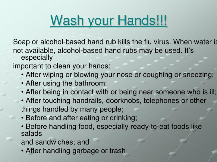 Wash your Hands!!!