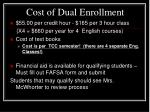 cost of dual enrollment