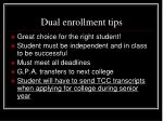 dual enrollment tips