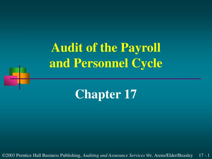 audit of the payroll and personnel cycle n.