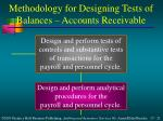 methodology for designing tests of balances accounts receivable3