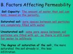 b factors affecting permeability1