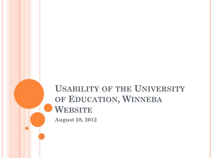 usability of the university of education winneba website n.
