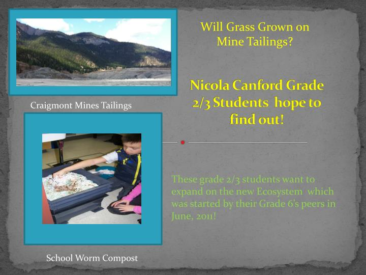 nicola canford grade 2 3 students hope to find out n.