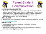 parent student communication