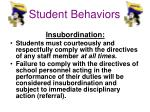 student behaviors3