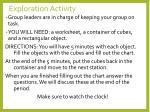 exploration activity
