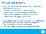 how we help schools