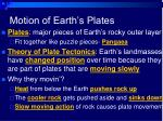 motion of earth s plates