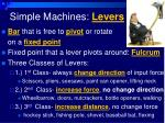 simple machines levers