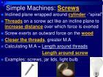 simple machines screws