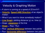 velocity graphing motion