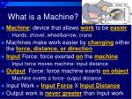 what is a machine
