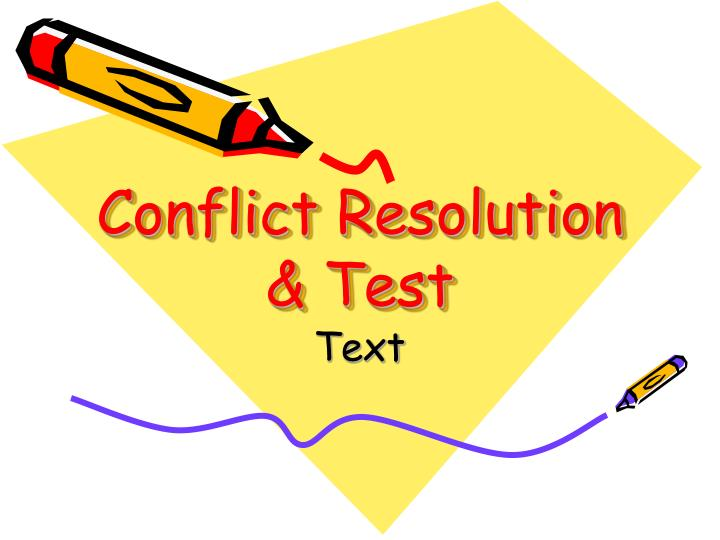 conflict resolution test n.